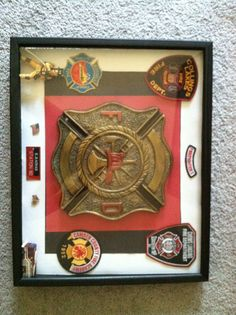 Firefighter shadow box!