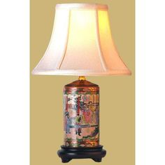 """15"""" Rose Medallion Pencil Lamp - OrientalFurniture.com another lamp to coordinate with the rose medallion style of fish pot I already have in the living room"""
