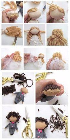 Crochet doll clothes amigurumi hair tutorials 20 trendy IdeasDIY How to Cut Barbie Doll Hair Barbie Hair Cut Barbie Tutorial Crochet Doll Clothes, Sewing Dolls, Crochet Dolls, Tiny Dolls, Soft Dolls, Doll Tutorial, Skirt Tutorial, Waldorf Dolls, Doll Hair