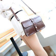 Fashion Retro Women Bags Messenger Bag Ladies Shoulder Bag Faux Leather Handbag(China (Mainland))