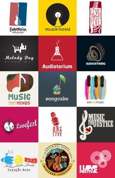 Large amount of Music Logo Logo Label, Record Label Logo, Sound Logo, Music Festival Logos, Radio Design, Music Logo, Studio Logo, Cool Logo, Logo Design Inspiration
