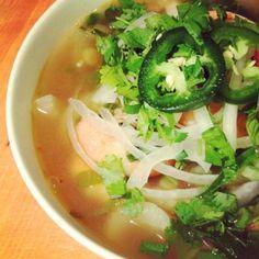 Shrimp Pho - Vietnamese Noodle Soup - The Lemon Bowl