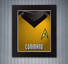 Star Trek Command Shirt Print - 8x10 print. Make it so. Starfleet always needs leaders 8x10 Star Trek uniform art printed on high quality card stock. Frame not included.