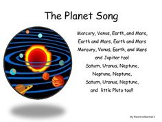 The Planet Song   Ivet's Interests   Planet song, Space