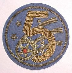 korean war goldwork patch