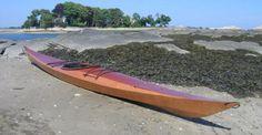 Shearwater 16 Sea Kayak: Medium-Volume Greenland-style Kayak with Sapele Decks!