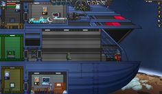 Front of my Ship, the S.S. Stargrazer! From the game Starbound. -JadeSeer