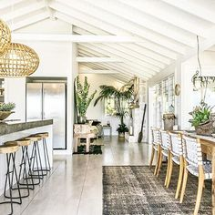 There's no place like home . . .  We adore this feel good interior via @thegrovebyronbay