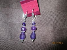 Awesome Amethyst Birthstone Earrings                                        E-136 - Birthstones and More