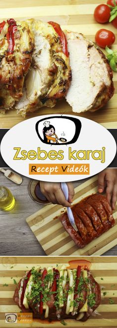 Stuffed pork chops recipe with video. Detailed steps on how to prepare this easy and simple Stuffed pork chops recipe! Recipe R, Chops Recipe, Edam Cheese, Meat Steak, Pork Chop Recipes, Pork Loin, Food Videos, Bacon, Beef