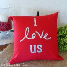 Simple pillow with iron on vinyl