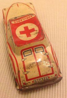 Rare Genuine Vintage Tinplate Ambulance - GTP | eBay