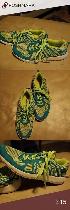 Fun, never worn neon size 8 sneakers. Fun, never worn neon size 8 sneakers. Shoes Sneakers