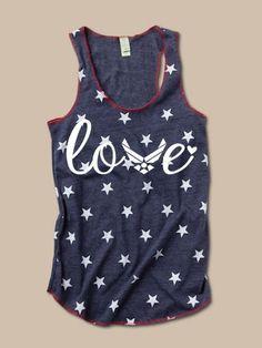 Air Force Love -  Stars Tank. Cute!
