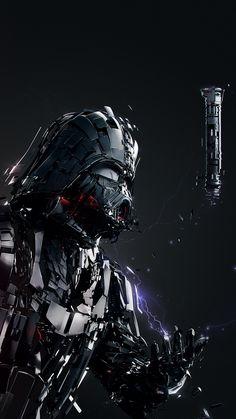 Star Wars Art Discover Darth Vader Digital Art iPhone 6 / 6 Plus wallpaper Star Wars Fan Art, Star Wars Clone Wars, Vader Star Wars, Star Wars Wallpaper Iphone, Ps Wallpaper, Anakin Vader, Darth Vader Armor, Darth Maul, Star Wars Painting