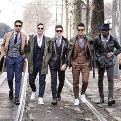 2015-01-31のファッションスナップ。着用アイテム・キーワードはアイコン, コート, サングラス, スニーカー, スラックス, スリーピーススーツ, チェスターコート, ハット, ブーツ, ベスト・ジレ, モンクストラップ, ワークジャケット,Francesco Galluccietc. 理想の着こなし・コーディネートがきっとここに。| No:87414