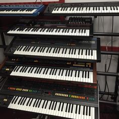 Deep Signal Studio's stack of vintage Roland analog synths.