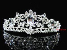 H10039 High Quality Alloy Wedding Bridal Bridesmaid Prom Pregnant Crystal Tiara