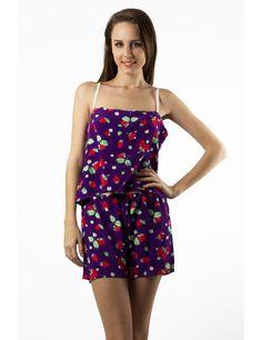 Zega Store - Pijamale Mushroom, culoarea mov - Femei, Pijamale Rompers, Dresses, Fashion, Gowns, Moda, Jumpsuits, Fashion Styles, Romper Clothing, Romper Suit