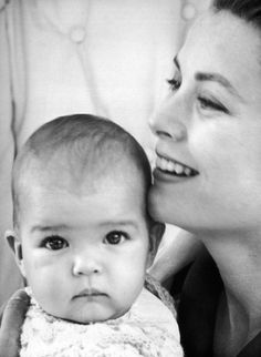Grace & Family:  Princess Grace pictured with her daughter Princess Stephanie by Cecil Beaton, 1965