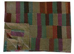 Multi Pattern Patchwork Kantha Quilt Queen Size Reversible Bedspread Throw Ralli