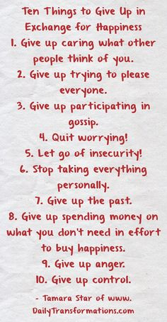 Pleasing Everyone, Insecurity, How To Better Yourself, Giving Up, Gossip, Letting Go, Thinking Of You, Effort, Happiness