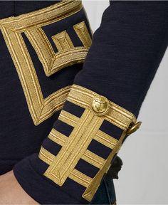 Denim & Supply Ralph Lauren Zip-Front Braided Military Blazer - Jackets & Blazers - Women - Macy's