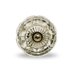 Cut Glass Deluxe Round Knob Chrome Finish
