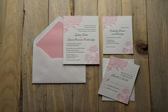 Pink peony letterpress wedding invitations, on sale now, wedding invitations with belly band, peony wedding invitations, pink wedding invitations