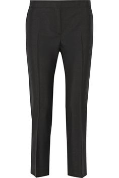 Acne Studios|Saville wool and mohair-blend tapered pants|NET-A-PORTER.COM
