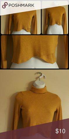 P.Y.L.O Top Gorgeous mustard color cropped top. The front is really cute and unique. p.y.l.o Tops Crop Tops
