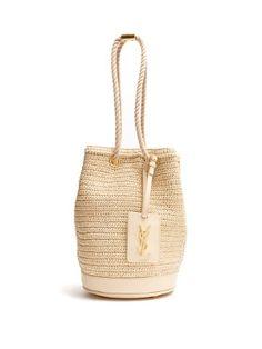 Click here to buy Saint Laurent Seau raffia bucket bag at MATCHESFASHION.COM