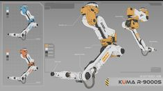Robot arm R-9000S, XR Zhao on ArtStation at https://www.artstation.com/artwork/E5wA4