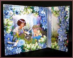 Magical Forest Side Easel Card Kit on Craftsuprint designed by Robyn Cockburn - made by Rae Trees