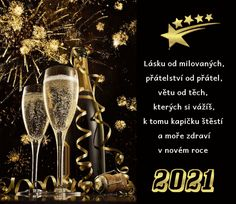 vanoce_pohlednice_novy_rok Flute, Champagne, Christmas, Poster, Tips, Christmas Greetings, New Years Eve, Random Stuff, Xmas