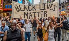 A Black Lives Matter march in New York last week