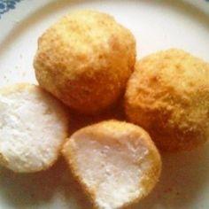 Zabpelyhes túrógombóc   Nosalty Cornbread, Potatoes, Cheese, Vegetables, Sweet, Ethnic Recipes, Food, Millet Bread, Candy