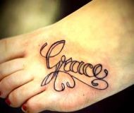 Grace (love the font)