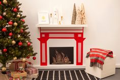 """No Fireplace? No Problem! Make One Out of Washi Tape"" -- How clever!"