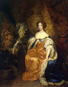 1683 Caspar Netscher Portrait of Mary Stuart II (Hermitage Museum, St. Mary Stuart, Queen Mary Ii, House Of Stuart, Potrait Painting, Defender Of The Faith, Dutch Golden Age, Hermitage Museum, Queen Of England, Princess Mary