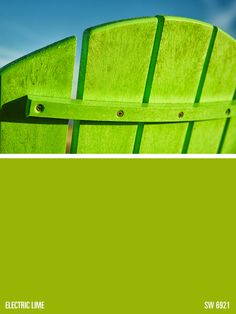 Sherwin-Williams green paint color – Electric Lime (SW 6921)