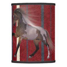 Lamp shade running horse home decor - horse animal horses riding freedom
