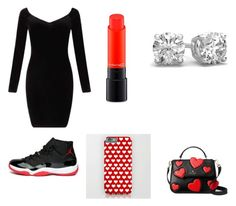 """""""Valentines  day outfit"""" by briarbeauty411 ❤ liked on Polyvore featuring beauty, Miss Selfridge, MAC Cosmetics and Kate Spade"""