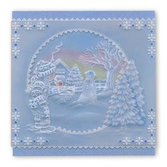 Winter Landscape Clarity Stamps Groovi Parchment Embossing A5 Square