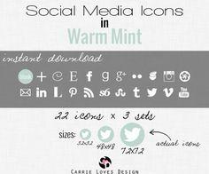 Iconos sociales (3 medidas)