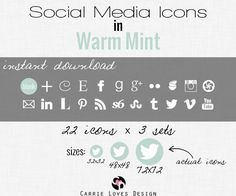 FREE social media icons, many colors to choose from. She also give super easy instructions on how to install them.