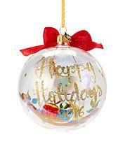 Rocking Horse Glass Ball 2016 Christmas Ornament