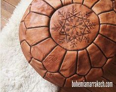 Bohemia Marrakech pouf leather Original by BohemiaMarrakechCom Leather Pouf Ottoman, Ottoman Footstool, Square Pouf, Moroccan Pouf, Two Birds, Old Clothes, Classic Leather, North Africa, Marrakech