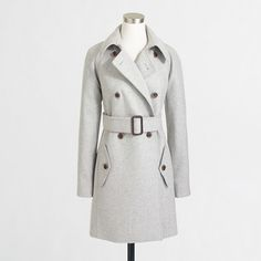 J.Crew Factory Factory wool-blend trench coat on shopstyle.com