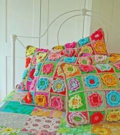 Sugestões de Almofadas em Crochet
